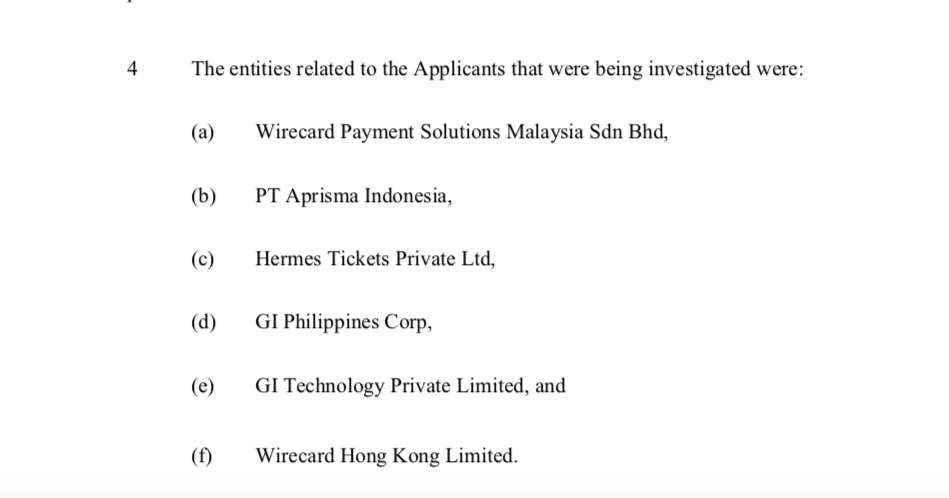 If questions about the integrity of Wirecard